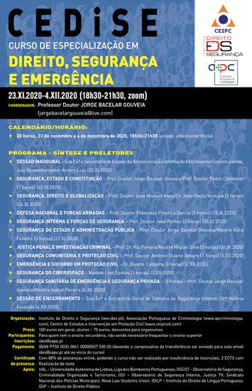 Curso de Especialização em Direito, Segurança e Emergência