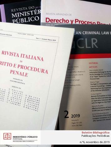 Boletim Bibliográfico de Publicações Periódicas da Biblioteca da PGR N.º 6 de novembro 2019