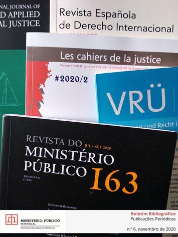 Boletim Bibliográfico de Publicações Periódicas da Biblioteca da PGR n.º 6, novembro 2020