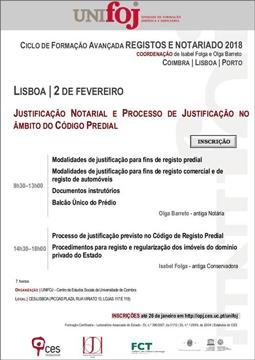 Justificação notarial e processo de justificação no âmbito do Código Predial