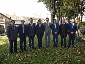 Visita de delegação de magistrados da Procuradoria municipal de Pequim