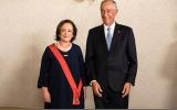 Cerimónia de condecoração da anterior Procuradora-Geral da República, Joana Marques Vidal, com a Grã-Cruz da Ordem Militar de Cristo