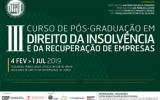 Curso de Pós-Graduação em Direito da Insolvência e da Recuperação de Empresas